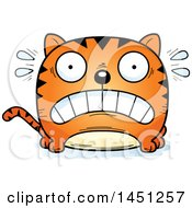 Clipart Graphic Of A Cartoon Scared Tabby Cat Character Mascot Royalty Free Vector Illustration