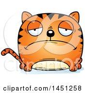 Clipart Graphic Of A Cartoon Sad Tabby Cat Character Mascot Royalty Free Vector Illustration