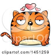 Cartoon Grinning Tabby Cat Character Mascot