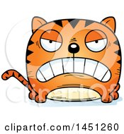 Clipart Graphic Of A Cartoon Mad Tabby Cat Character Mascot Royalty Free Vector Illustration
