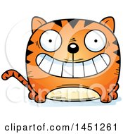 Clipart Graphic Of A Cartoon Grinning Tabby Cat Character Mascot Royalty Free Vector Illustration