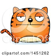 Clipart Graphic Of A Cartoon Bored Tabby Cat Character Mascot Royalty Free Vector Illustration
