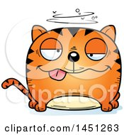 Clipart Graphic Of A Cartoon Drunk Tabby Cat Character Mascot Royalty Free Vector Illustration