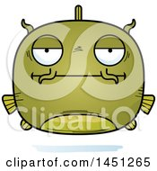 Clipart Graphic Of A Cartoon Bored Catfish Character Mascot Royalty Free Vector Illustration