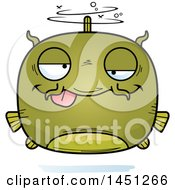 Clipart Graphic Of A Cartoon Drunk Catfish Character Mascot Royalty Free Vector Illustration