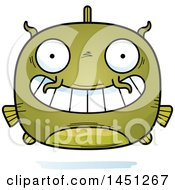 Clipart Graphic Of A Cartoon Grinning Catfish Character Mascot Royalty Free Vector Illustration by Cory Thoman
