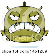 Clipart Graphic Of A Cartoon Mad Catfish Character Mascot Royalty Free Vector Illustration by Cory Thoman