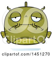 Clipart Graphic Of A Cartoon Sad Catfish Character Mascot Royalty Free Vector Illustration by Cory Thoman