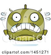 Clipart Graphic Of A Cartoon Scared Catfish Character Mascot Royalty Free Vector Illustration by Cory Thoman