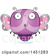 Clipart Graphic Of A Cartoon Surprised Butterfly Character Mascot Royalty Free Vector Illustration