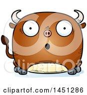 Cartoon Surprised Bull Character Mascot