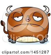 Cartoon Sad Bull Character Mascot