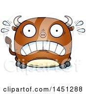 Cartoon Scared Bull Character Mascot