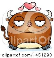Cartoon Loving Bull Character Mascot