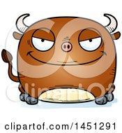 Cartoon Evil Bull Character Mascot