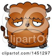 Cartoon Sad Buffalo Character Mascot