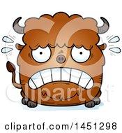 Cartoon Scared Buffalo Character Mascot