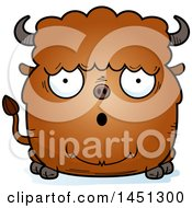 Cartoon Surprised Buffalo Character Mascot