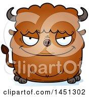 Cartoon Evil Buffalo Character Mascot
