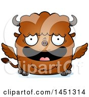 Clipart Graphic Of A Cartoon Happy Winged Buffalo Character Mascot Royalty Free Vector Illustration by Cory Thoman