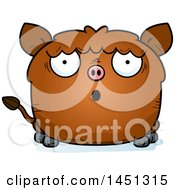 Cartoon Surprised Boar Character Mascot