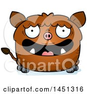 Cartoon Happy Boar Character Mascot