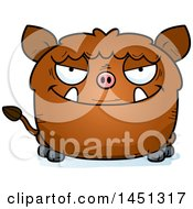 Cartoon Sly Boar Character Mascot