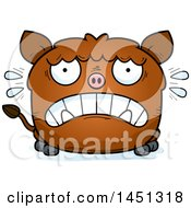 Cartoon Scared Boar Character Mascot