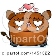 Cartoon Loving Boar Character Mascot