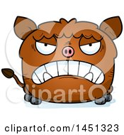 Cartoon Mad Boar Character Mascot