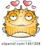 Clipart Graphic Of A Cartoon Loving Blowfish Character Mascot Royalty Free Vector Illustration by Cory Thoman