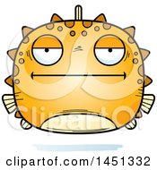 Clipart Graphic Of A Cartoon Bored Blowfish Character Mascot Royalty Free Vector Illustration by Cory Thoman