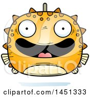 Clipart Graphic Of A Cartoon Happy Blowfish Character Mascot Royalty Free Vector Illustration