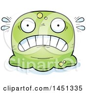 Clipart Graphic Of A Cartoon Scared Blob Character Mascot Royalty Free Vector Illustration by Cory Thoman