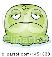 Clipart Graphic Of A Cartoon Sad Blob Character Mascot Royalty Free Vector Illustration by Cory Thoman
