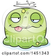 Clipart Graphic Of A Cartoon Drunk Blob Character Mascot Royalty Free Vector Illustration by Cory Thoman