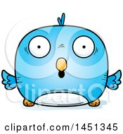 Clipart Graphic Of A Cartoon Surprised Blue Bird Character Mascot Royalty Free Vector Illustration