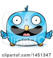 Clipart Graphic Of A Cartoon Happy Blue Bird Character Mascot Royalty Free Vector Illustration by Cory Thoman