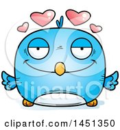 Clipart Graphic Of A Cartoon Loving Blue Bird Character Mascot Royalty Free Vector Illustration