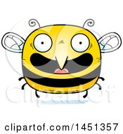 Clipart Graphic Of A Cartoon Happy Bee Character Mascot Royalty Free Vector Illustration