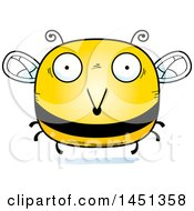 Clipart Graphic Of A Cartoon Surprised Bee Character Mascot Royalty Free Vector Illustration