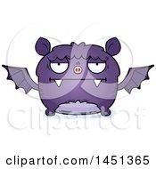 Clipart Graphic Of A Cartoon Bored Flying Bat Character Mascot Royalty Free Vector Illustration