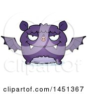 Clipart Graphic Of A Cartoon Evil Flying Bat Character Mascot Royalty Free Vector Illustration