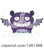 Clipart Graphic Of A Cartoon Grinning Flying Bat Character Mascot Royalty Free Vector Illustration