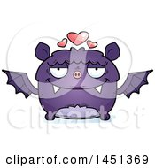 Clipart Graphic Of A Cartoon Loving Flying Bat Character Mascot Royalty Free Vector Illustration