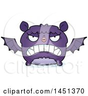 Clipart Graphic Of A Cartoon Mad Flying Bat Character Mascot Royalty Free Vector Illustration