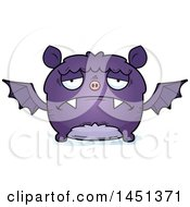Clipart Graphic Of A Cartoon Sad Flying Bat Character Mascot Royalty Free Vector Illustration