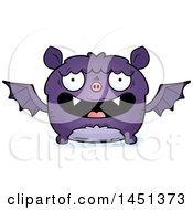 Clipart Graphic Of A Cartoon Happy Flying Bat Character Mascot Royalty Free Vector Illustration