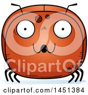 Clipart Graphic Of A Cartoon Surprised Ant Character Mascot Royalty Free Vector Illustration