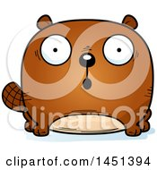 Clipart Graphic Of A Cartoon Surprised Beaver Character Mascot Royalty Free Vector Illustration